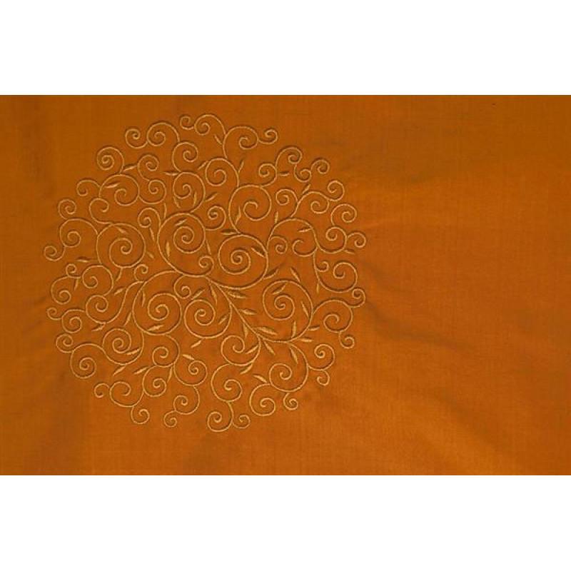 Натуральный шёлк с вышивкой арт. JY 1232-9 терракотовый