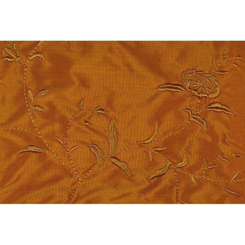 Натуральный шёлк с вышивкой арт. JS 212-9 терракотовый