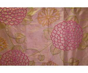 Натуральный шёлк с вышивкой арт. ZS 6881-1 розовый