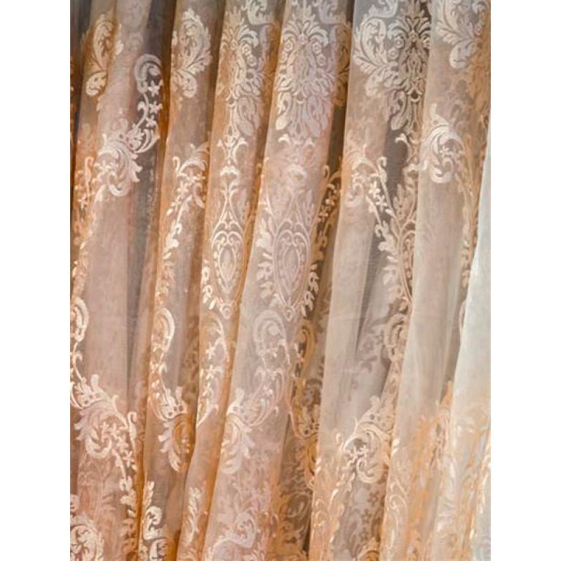 Тюль сетка с вышивкой без утяжелителя «Версаль» арт. 6501-3B