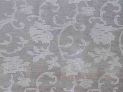 Тюль батист «Роза Бель» без утяжелителя арт. M 0092-1 белый