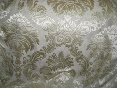 Вуаль с бархатной печатью арт. 1156-3 светло-золотой