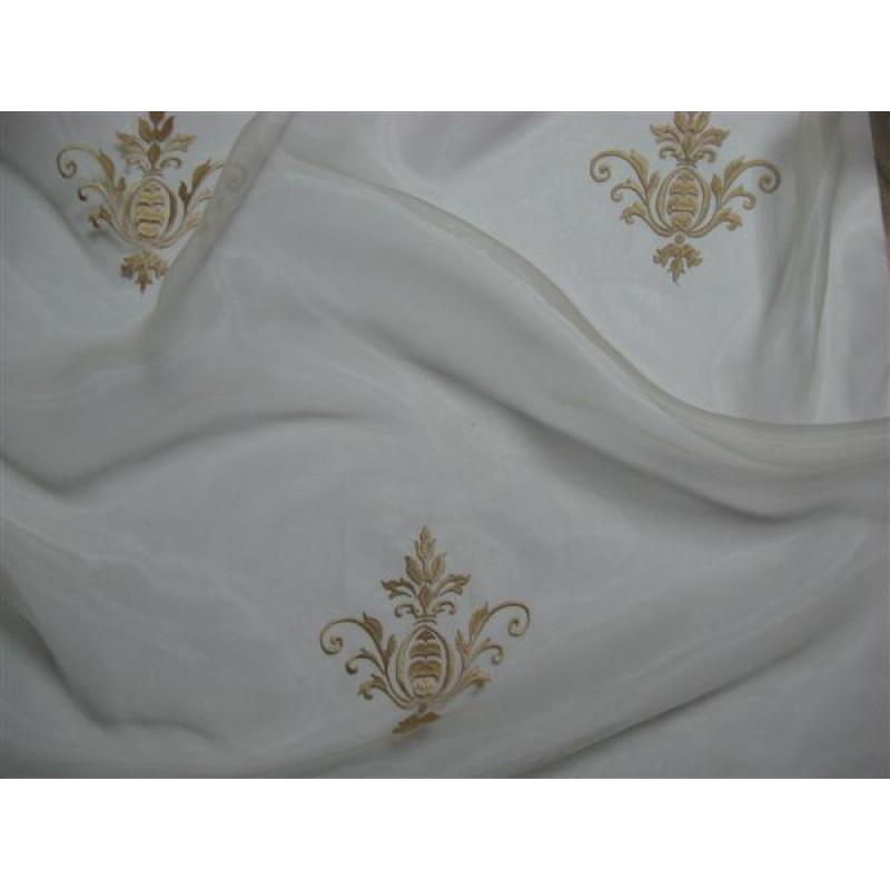 Тюль «Императорский» с вышивкой золотой нитью арт. 130623В-15