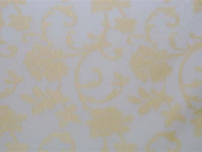 Тюль батист «Роза Бель» без утяжелителя арт. M 0092-2 белый, рисунок желтый
