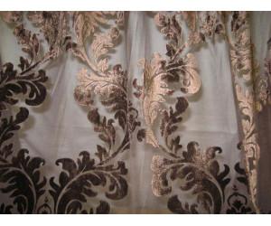 Вуаль с бархатной печатью арт. 2014-3 коричневый