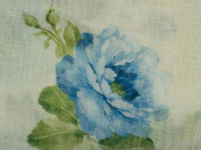 Вуаль с печатным рисунком арт. S 628-1302 молочный