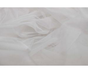 Тюль сетка лазерная без утяжелителя арт. НХ002143-1 молочный
