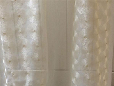 Тюль «Тонкий лён» арт. DS00216-2 бежевый