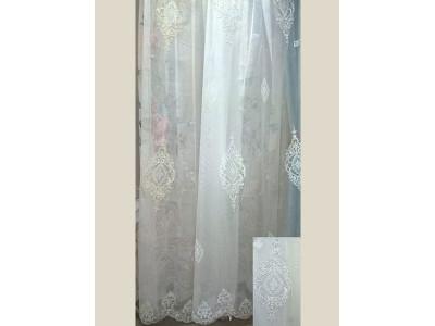 Тюль-сетка белая вышивка арт. 101638835-03 белый